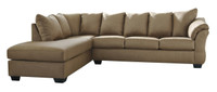 Madison Left Hand Facing Sectional Sofa Bed Mocha