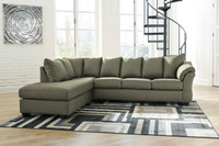 Madison Left Hand Facing Sectional Sofa Bed Sage