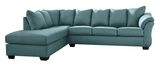 Madison Left Hand Facing Sectional Sofa Bed Sky