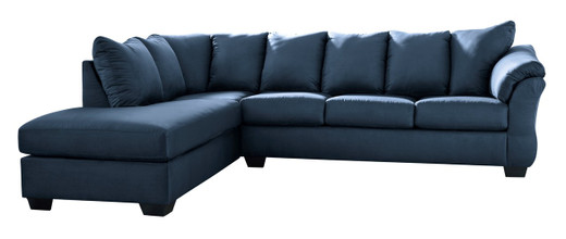 Madison Left Hand Facing Sectional Sofa Bed Blue