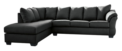 Madison Left Hand Facing Sectional Sofa Bed Black