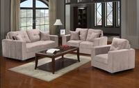 Piper Fabric Loveseat Grey