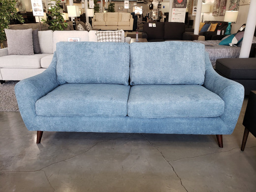 Aurora Fabric Sofa Blue