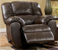 Carlton Bonded Leather Rocker Recliner Black