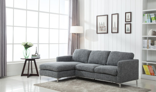 Left facing grey sectional