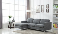Parker Left Hand Facing Sectional Grey