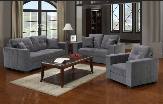Piper Grey Fabric Chair