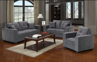 Piper Love Seat Grey