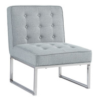 Poppy Fabric Chair Grey