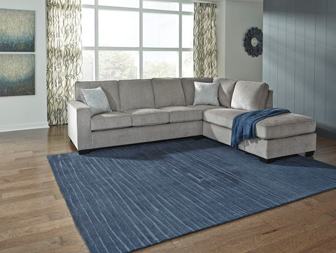 Wren Right  Hand Facing Sectional Sofa Bed Silver Grey