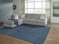 Wren Left Hand Facing Sectional Silver Grey