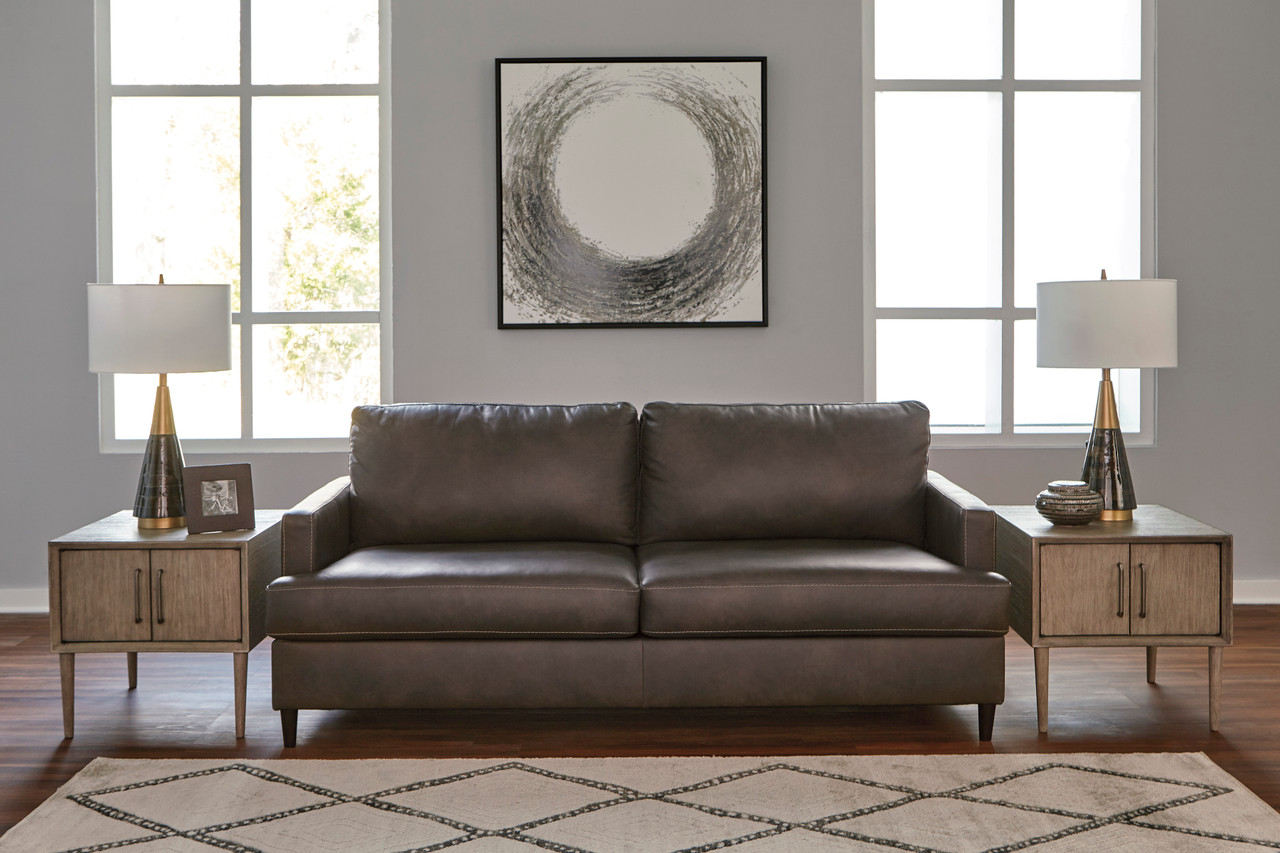 Cool Carter Genuine Leather Sofa Grey Interior Design Ideas Clesiryabchikinfo