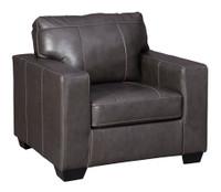 Logan Genuine Leather Chair Grey