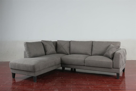 Paxton Left Hand Facing Sectional Grey