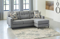 Owen Fabric Reversible Sectional Grey