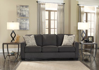 Perez Queen Sofa Bed Charcoal