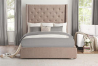 LANDON Storage Queen Bed Frame w/Slats Beige
