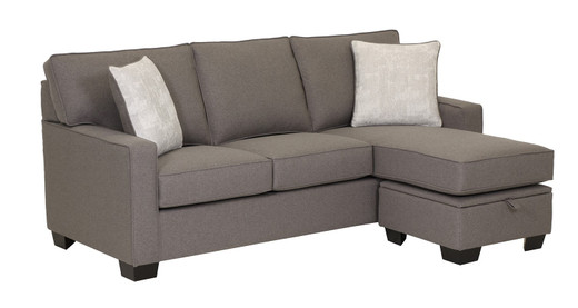 Rex Fabric Reversible Sectional with Storage Double Sofa Bed