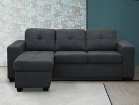 AVA Fabric Sectional Sofa Reversible Chaise
