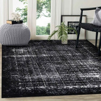 Shadow Black - Ivory Rug