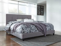 Dolante King Bed Frame Grey