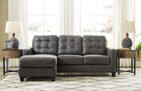 Luna Fabric Reversible Sectional Grey