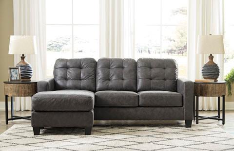 Luna Fabric Reversible Sectional Grey