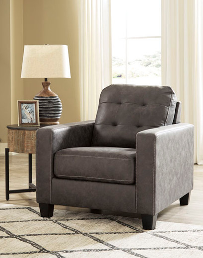 Luna Fabric Chair Grey