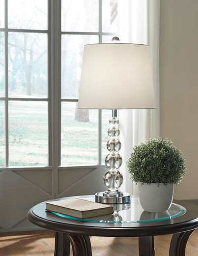 Joaquin Crystal Table Lamp Set