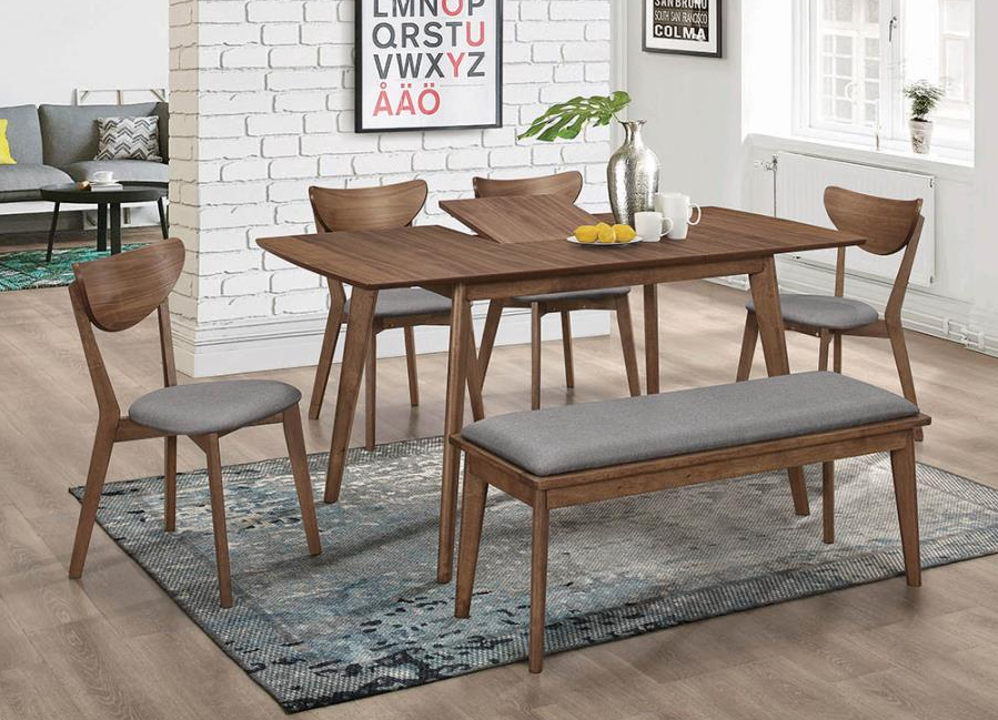 Grace Butterfly Leaf Extension Dining Table Walnut Pallucci Furniture