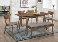 Grace Butterfly Leaf Extension Dining Table Walnut