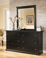 Maribel Bedroom Mirror Black