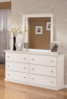 Maribel Bedroom Mirror White