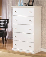 Mirabel Five Drawer Chest White