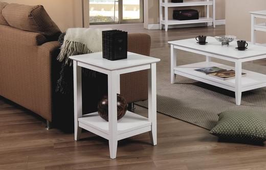 Quadra Side Table White