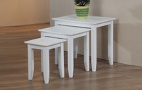 Quadra Nesting Tables White