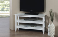Quadra Corner TV Stand White