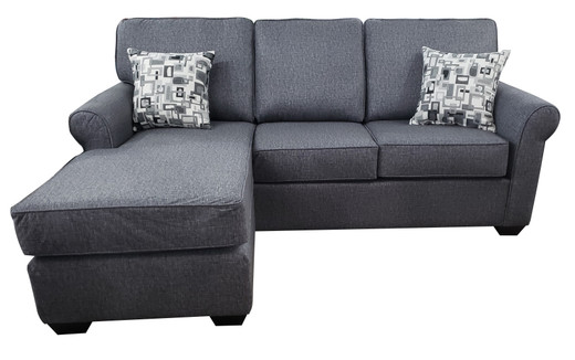 Sonic Fabric Reversible Queen Sectional Sofa Bed Grey