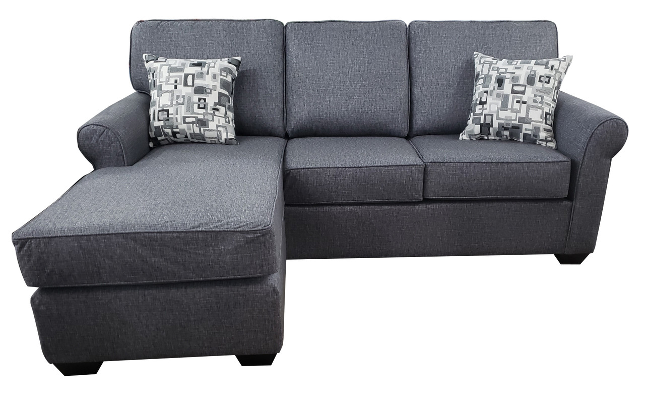 Picture of: Sonic Fabric Reversible Queen Sectional Sofa Bed Grey Pallucci Furniture
