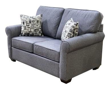 Sonic Fabric Love Seat Grey