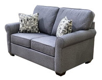 Sonic Fabric Love Seat Grey