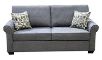 Sonic Fabric Double Sofa Bed Grey