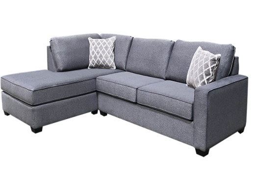 Remi Fabric Left Hand Facing - Condo Sectional with Double Bed