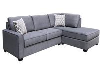 Remi Fabric Right Hand Facing - Condo Sectional with Double Bed