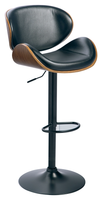Gerda Swivel Bar Stool Black