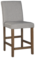 Glen Upholstered Counter Stool Grey