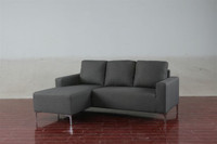 Lola Fabric Left Hand Facing Sectional Grey