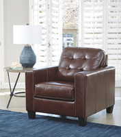 Anthony Genuine Leather Chair Walnut