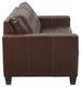 Anthony Genuine Leather Sofa Walnut