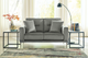 Mack Loveseat Steel